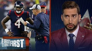 There's more pressure on Bill O'Brien than Deshaun Watson — Nick Wright | NFL | FIRST THINGS FIRST
