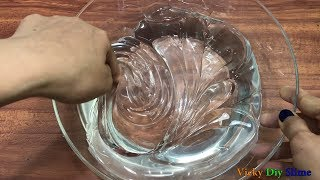 DIY GIANT CLEAR SLIME !! Making A Giant Clear Slime! Vicky Diy Slime
