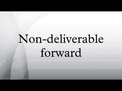 non deliverable forward