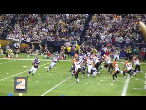 MN Vikings vs Bengals 12/13/09 - Adrian Peterson touchdown
