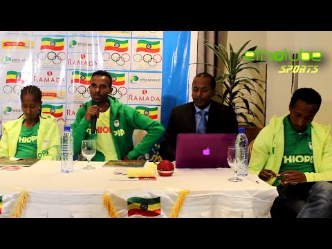 Ethiopia - Athlete Almaz Ayana And Athlete Dejen G/Meskel Respond To Questions About Rio Olympic