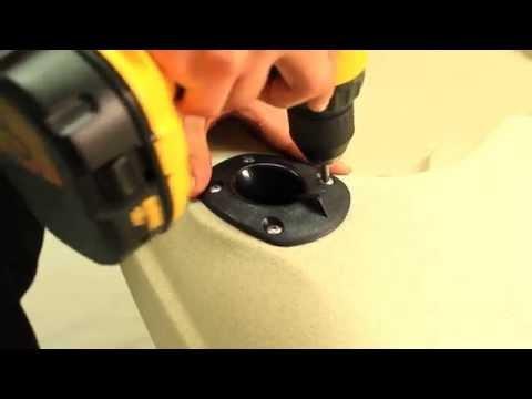 Flush Mounted Fishing Rod Holder - Malibu Kayaks Installation Instruction