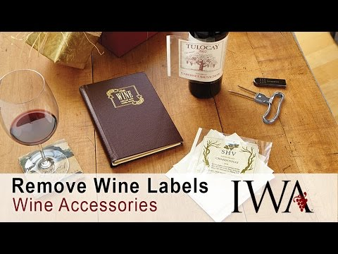 Removing & Saving Wine Labels
