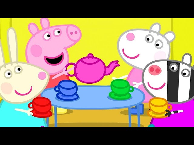 Peppa Pig Full Episodes   Dens - the Tea Party   Cartoons for Children thumbnail