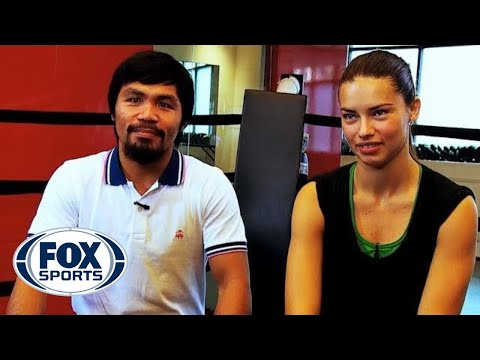 Adriana Lima trains with Manny Pacquiao on Crowd Goes Wild