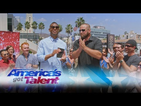 Jon Dorenbos Performs Magic with Marlon Wayans - America's Got Talent 2017