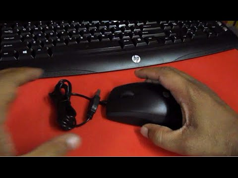 Unboxing & Testing HP C2600 Multimedia Keyboard and Mouse