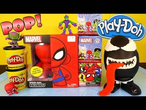 Play Doh Venom Surprise Egg Kidrobot Giant Spiderman Superhero Toy Marvel Mystery Mini Toys