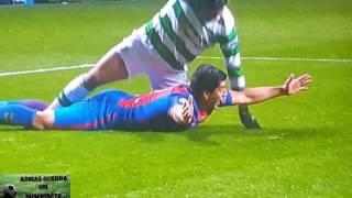 Celtic 0 vs FC Barcelona 2 Penalti a Luis Suárez y Gol de Messi (segundo)