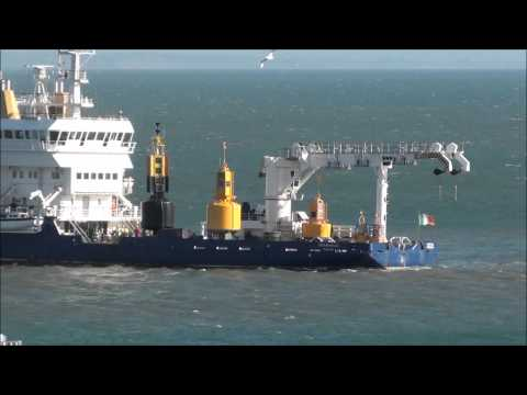 Granuaile manoeuvring into Rosslare Euro Port thumbnail