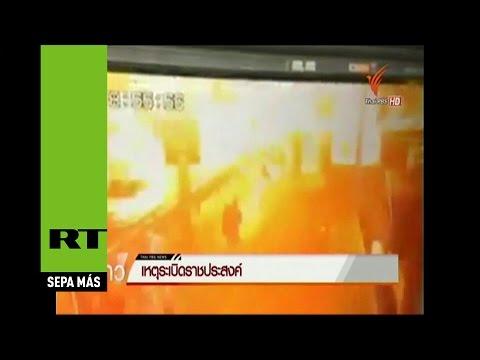 Difunden el momento exacto de la explosión en Tailandia que dejó 15 muertos