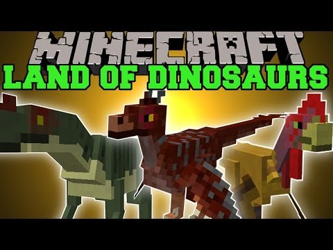 Minecraft: LAND OF THE DINOSAURS (NEW DIMENSION WITH TONS OF DINOSAURS!) Mod Showcase