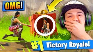 HIDING in a SUPPLY DROP to WIN Fortnite: Battle Royale!