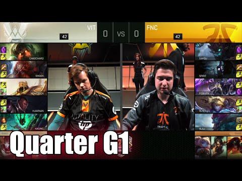 Vitality vs Fnatic | Game 1 Quarter Finals S6 EU LCS Spring 2016 Playoffs | VIT vs FNC G1 1080p
