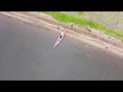 初夏の東大沼キャンプ場を上空から (動画)