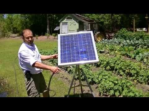 Solar water pump/ no battery water garden/portable tripod mount.