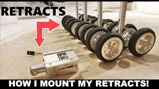 How to Install RC Airplane Airliner Servoless Retracts