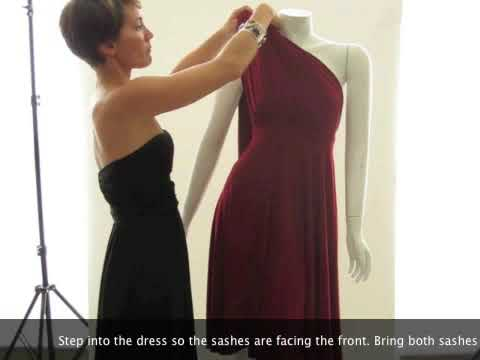 How To Wear Your Convertible Dress The One Shoulder