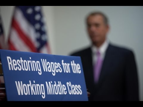 Boehner Previews House Vote to Restore Jobs, Wages