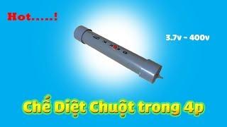 Chế Súng Diệt Chuột trong 4 phút - DIY Modun Cao Áp - DIY 3.7V_400v