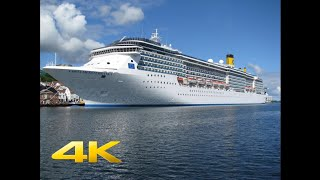 Costa Mediterranea Full Movie Ultra HD Greek Islands Santorini Mykonos Croatia Italia Ship Tour 4k