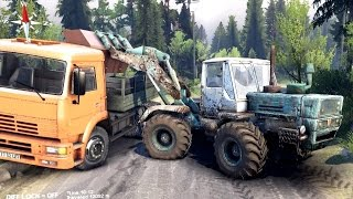 SPINTIRES 2014 - Tractor Loading Rocks in a Truck