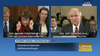 Feinstein questions Sessions on Muslim ban, torture and more
