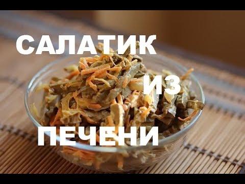 """Новогодний Печеночный Салат """"Сытный"""" :. Видео Рецепт Недорогих Блюд На Праздничный Стол"""
