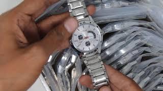 LR101 (Lorem New Stylish Chronograph Pattern Silver Metal Analog Watches for Men-LR0101)