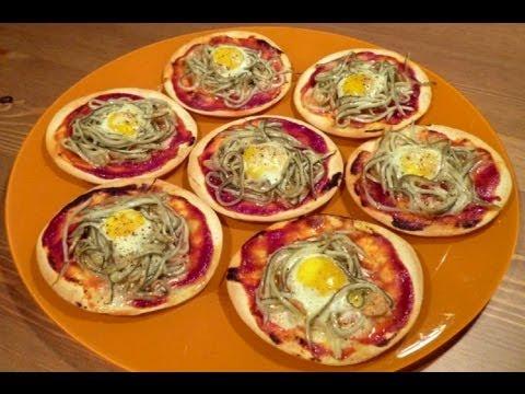 Aperitivos fáciles - Mini pizzas de gulas ( con obleas de empanadillas )