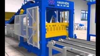 Fully automatic block production line, concrete paver and block production line