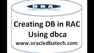 Creating Database In RAC Using DBCA