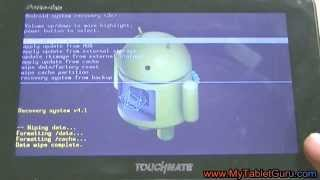 Hard reset/ factory wipe Touchmate PortoTab tablet