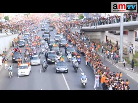 Le Passage des elephants champion d'Afrique 2015 sur le boulevard