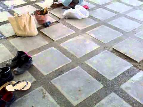 pemasangan batu kerikil dan keramik batu alam youtube