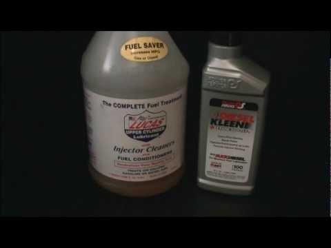 Lucas Oil (upper cylinder lubricant) vs. Diesel Kleen (gray bottle)