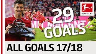 All Goals Robert Lewandowski In The 2017/18 Bundesliga Season