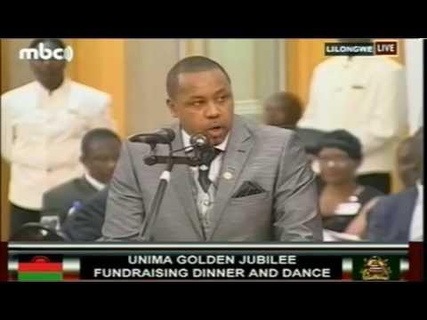 Malawi VP Saulos Chilima's Speech at UNIMA@50 Fundraising Dinner -  May 2015