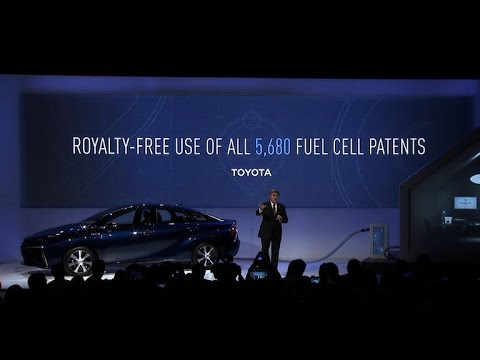 Toyota opens up hydrogen fuel cell patents