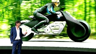 BMW Self Driving Motorbike World Premiere BMW Vision 100 Motorbike Review BMW Autonomous CARJAM