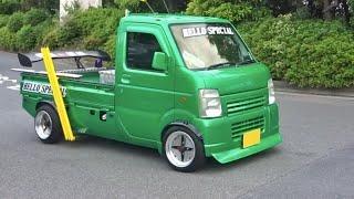【大黒PA】国産改造車 加速 サウンド/JDM acceleration sound in Japan. Hakosuka, Bosozoku style van, CosmoSports, more