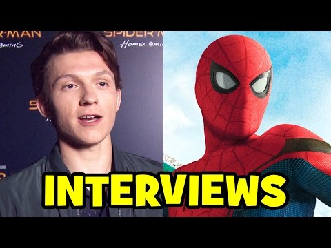 SPIDER-MAN HOMECOMING Interviews - Tom Holland, Kevin Feige, Jon Watts