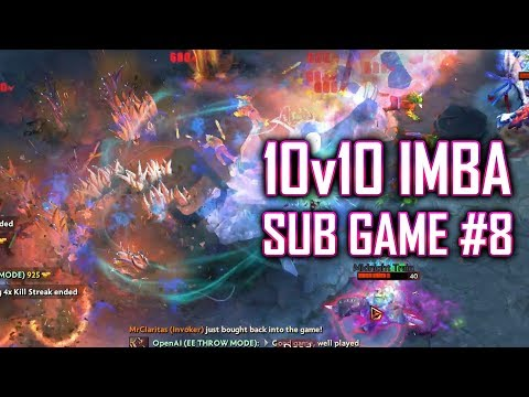 Dota 2 IMBA: 10v10 Sub Game #8 - SingSing Dota 2 Highlights