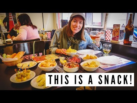 Eating an ARGENTINIAN PICADA + CHURROS at Manolo in Mar del Plata, Argentina