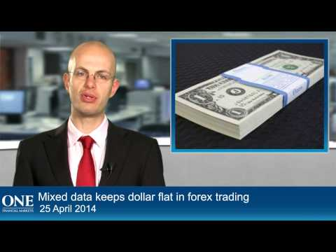 Mixed data keeps dollar flat in forex trading