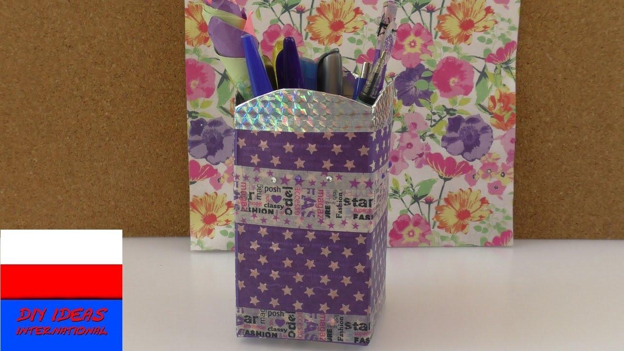 Pudełko na przybory do pisania | praktyczny pomysł | washi tape & washi sheets