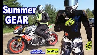 Best Summer Motorcycle GEAR to Stay COOL