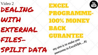 Learn Excel, Video 2-Text to column,paste special