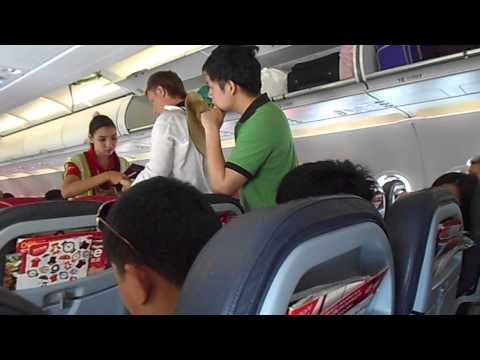 Taking off from Krabi International Airport, Thailand. Air Asia Airbus A320-200