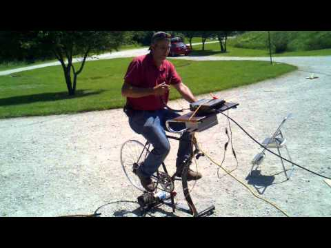 NJ1E John Peddle Bike powered 2M SSB Station Field Day 2011